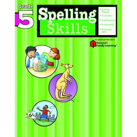 Spelling Skills: Grade 5 (Flash Kids Harcourt Family Learning)](Halloween Spelling Words Grade 6)
