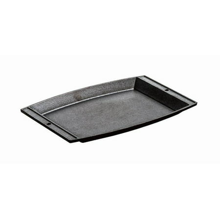 Seasoned Rectangular Cast Iron Grill - Lodge Small Chef's Platter, Rectangular Griddle Seasoned Cast Iron, LSCP3