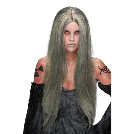 Nuclear Witch Costume Wig Adult One Size](Wicked Witch Wig)