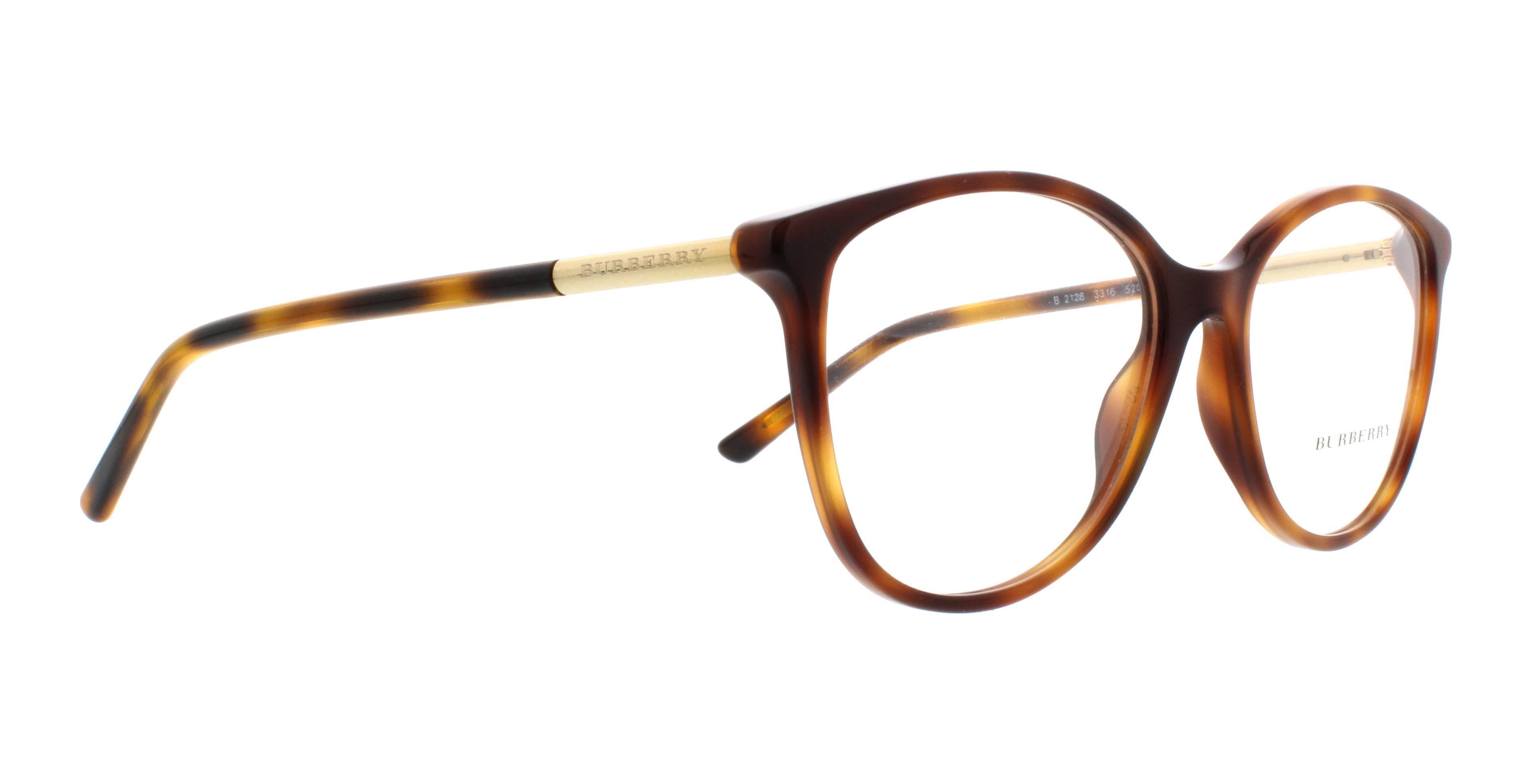 80d39a7ef774 BURBERRY Eyeglasses BE2128 3316 Havana 52MM - Walmart.com