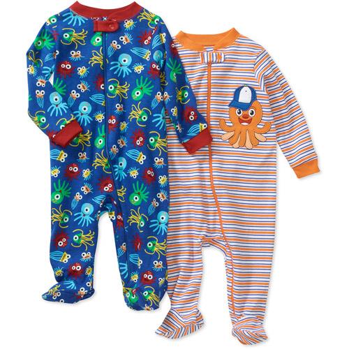 Faded Glory Newborn Boys' 2 Pack Sleep n Play Set