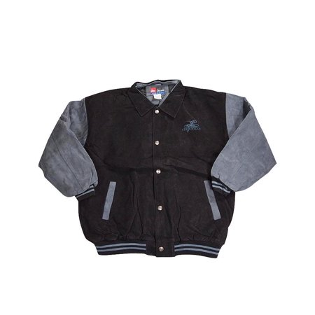 Jon Lauren - Mens Mid-Weight Jacket BLACK-BLUE GREY / X-Large