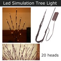 LED Willow Branch Floral Warm Light String Lamp Fairy Tree Garland Decor, 70 cm / 27 in