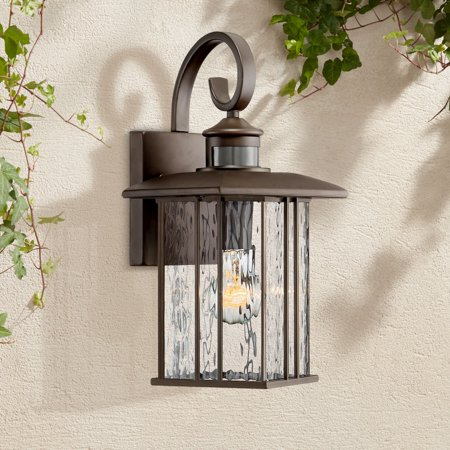 Water Glass Wall Fixture (John Timberland Modern Outdoor Wall Fixture Bronze 15 1/4