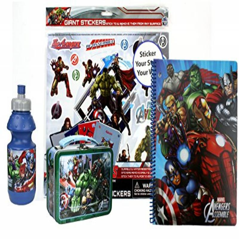 Marvel Avengers Fun Set- Sports Water Bottle, Avengers 3-...