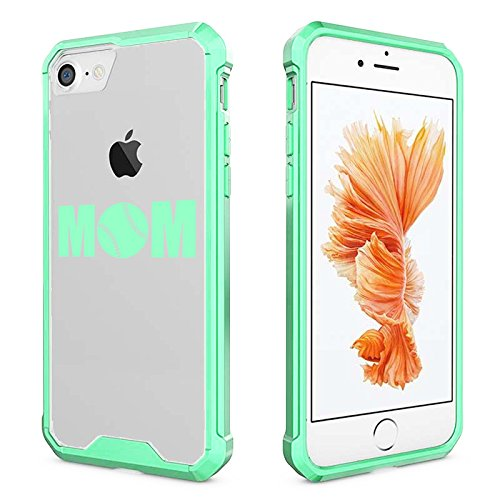 For Apple iPhone Clear Shockproof Bumper Case Hard Cover MOM Baseball Softball (Mint for iPhone 7)