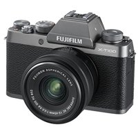 Fujifilm X-T100 Mirrorless Camera with 15-45mm F3.5-5.6 OIS PZ Lens (Champagne Gold) 16583016