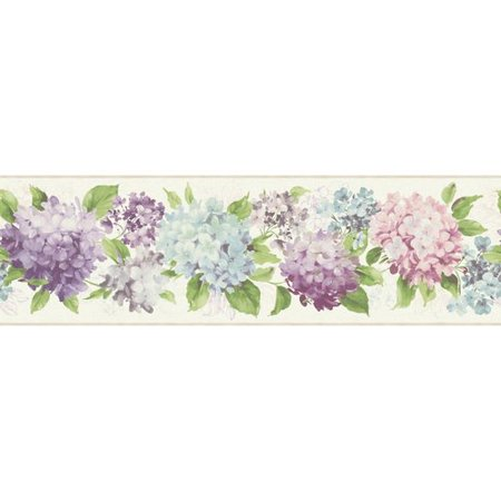 York Wallcoverings Kitchen and Bath Hydrangea 15' x 9