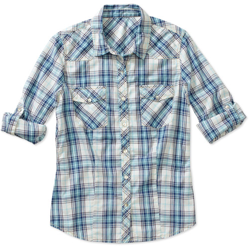 Signature by Levi Strauss & Co Women's Western Plaid Shirt
