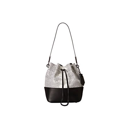 3fd2071ed6b5e ZAC Zac Posen Eartha Envelope Drawstring Shoulder Bag - Black White Printed  Lizard - Walmart.com