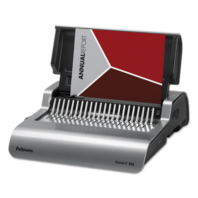 Quasar Electric Comb Binding System, 16 7 8 x 15 3 8 x 5 1 8, Metallic Gray, Sold as 1 Each by