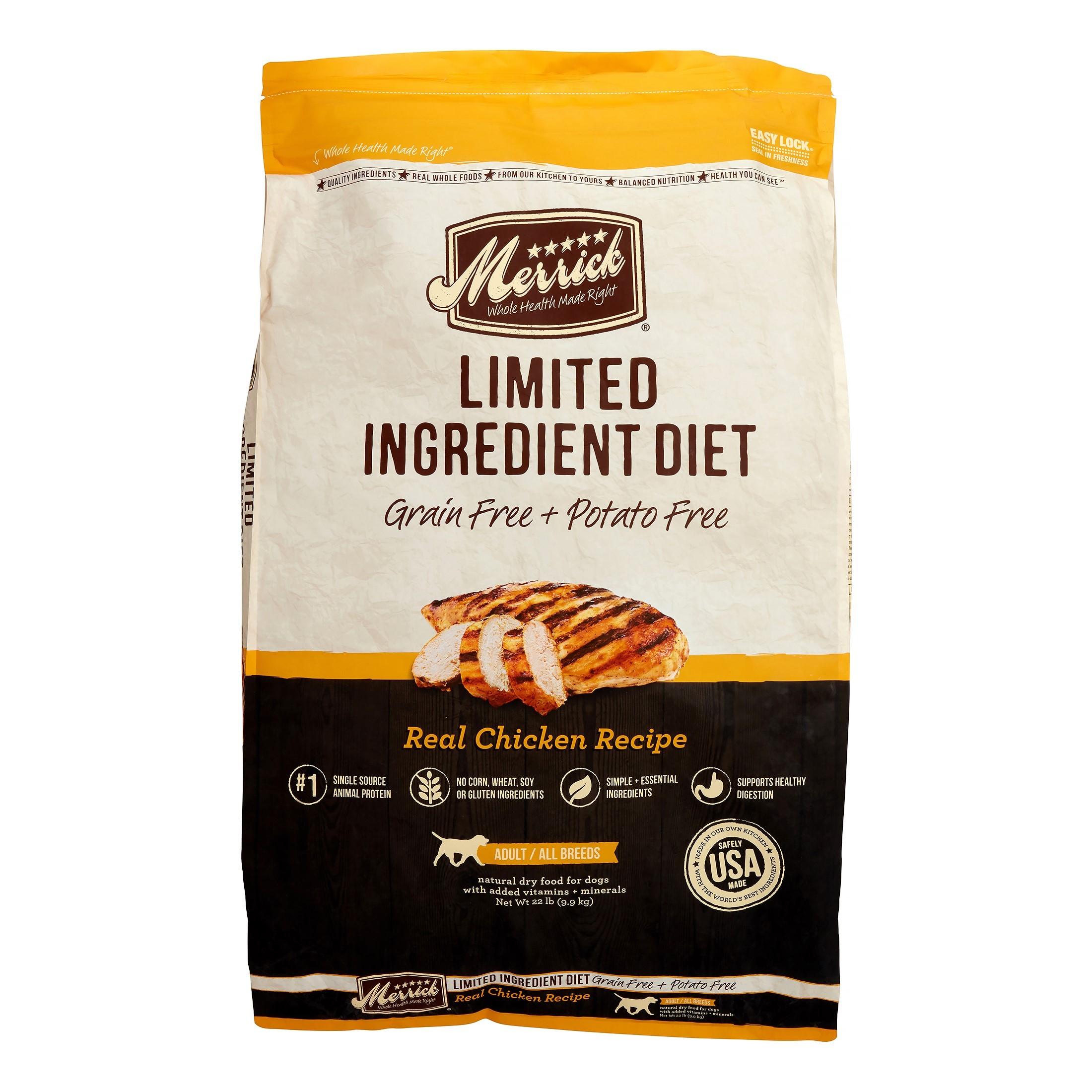 Merrick Limited Ingredient Diet Grain-Free Real Chicken Recipe Dry Dog Food, 22 lb