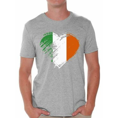 b167451d1 Awkward Styles Irish Flag Heart Shirt St. Patricks Day Shirt for Men Proud  Irish American T Shirt Mens Irish Pride Shirt Gifts for Him Irish Flag  Distressed ...