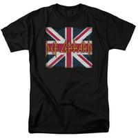 Def Leppard - Union Jack - Short Sleeve Shirt - Large