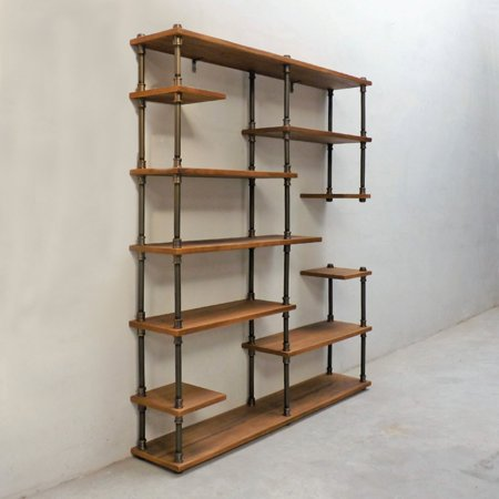 Furniture Pipeline Nashville Industrial Mid Century Etagere Bookcase