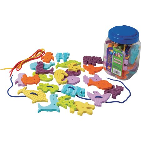 Pacon, PACAC4467, WonderFoam Early Learning Lacing Animals Set, 1 Set, Assorted
