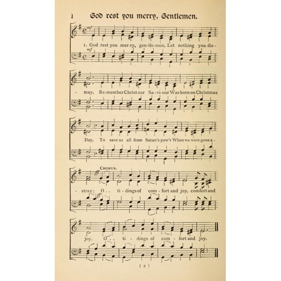 god rest you merry gentlemen traditional christmas carols new old 1850 poster print walmartcom - 933 Christmas Music