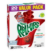 Betty Crocker Fruit Snacks, Fruit Roll-Ups, Variety Snack Pack, 20 Rolls, 0.5 oz Each