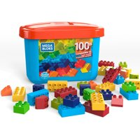 Mega Bloks Junior Builders 100-pc Building Tub with Building Blocks, Building Toys for Toddlers (100 Pieces)