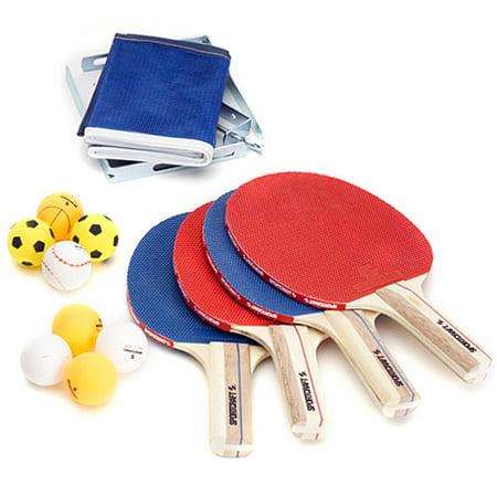 Sportcraft Bronze Series, 4 Player Table Tennis Accessory Set ...