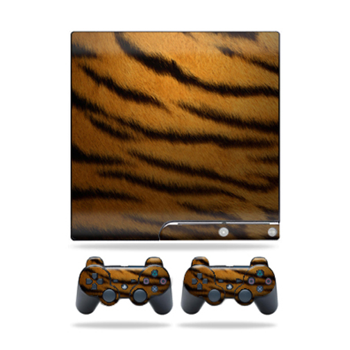 Mightyskins Protective Vinyl Skin Decal Cover for Sony Playstation 3 PS3 Slim skins + 2 Controller skins Sticker Tiger