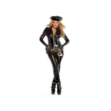 Strip Search Cop Costume 553424 Forplay Black Pleather