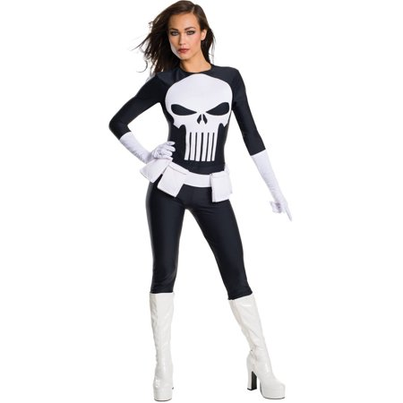 Punisher Secret Wishes Women's Adult Halloween Costume](Halloween Wishes For Husband)