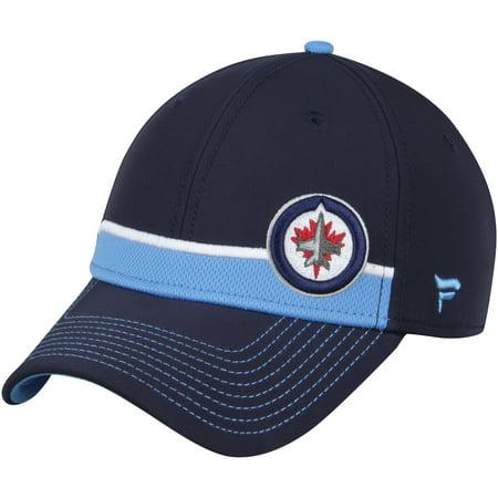 - Winnipeg Jets Fanatics Branded Iconic Streak Speed Stretch Fitted Hat - Navy