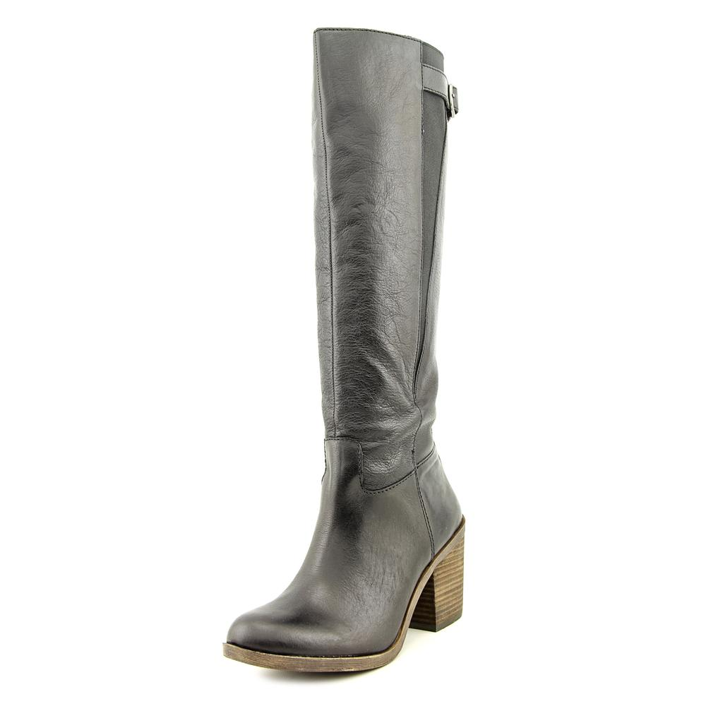 Lucky Brand Orman Women  Round Toe Leather Black Knee Hig...