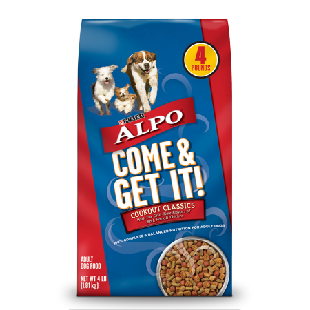 Purina ALPO Dry Dog Food, Come & Get It! Cookout Classics - 4 lb. Bag Baked Adult Dry Dog Food