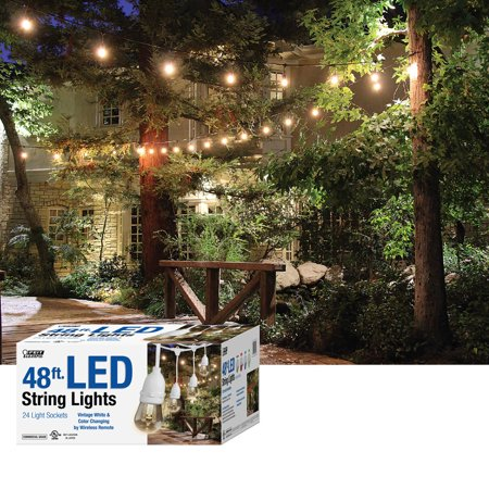 Feit Led String Lights Simple FEIT White 60' Color Changing LED String Lights Walmart