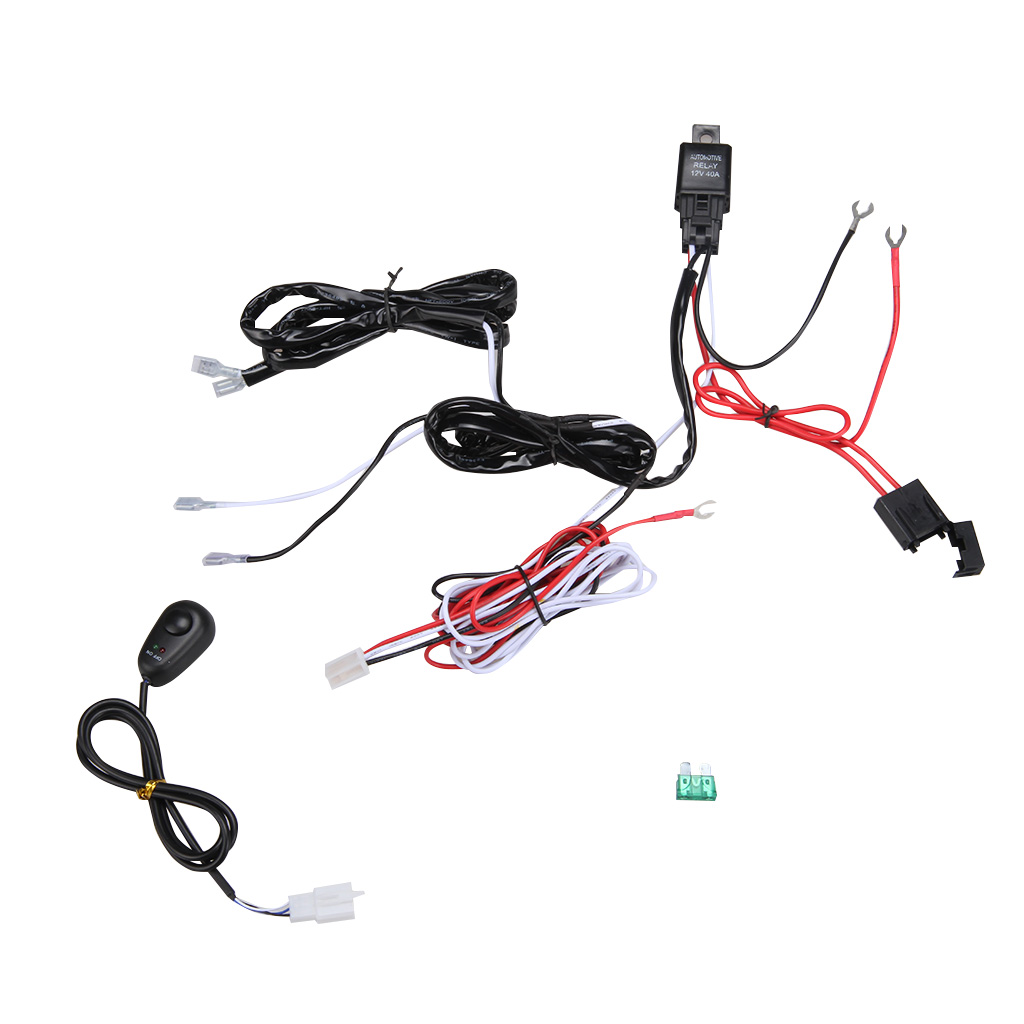 Wiring Harness Kit Loom For Led Work Driving Light Bar With Fuse Jeep Jk Relay 12v 40a