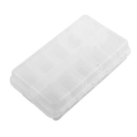 20 Compartments Fishing Hook Storage Box Foldable Fish Bait Lure Case Clear - image 4 of 4