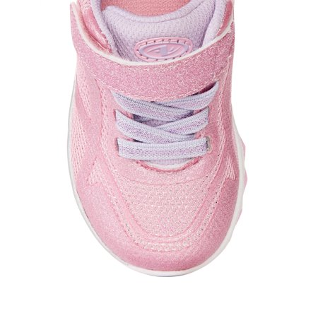 Athletic Works Twinkle Glitter Athletic Sneaker (Toddler Girls)