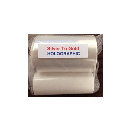 Zebra Silver to Gold Color Shifting Specialty Ribbon, 1000 prints
