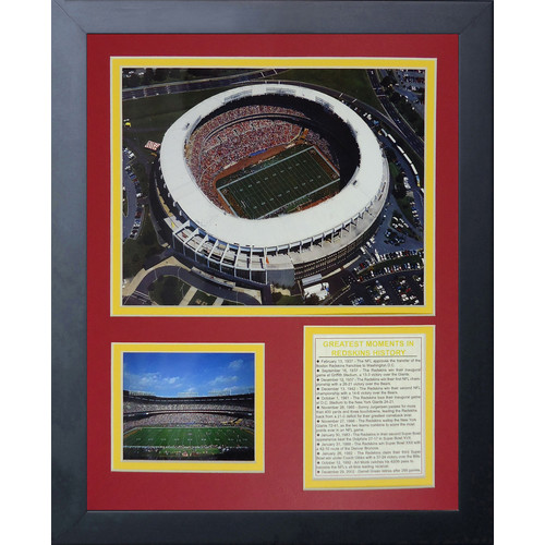 Legends Never Die Washington Redskins RFK Stadium Framed Memorabili