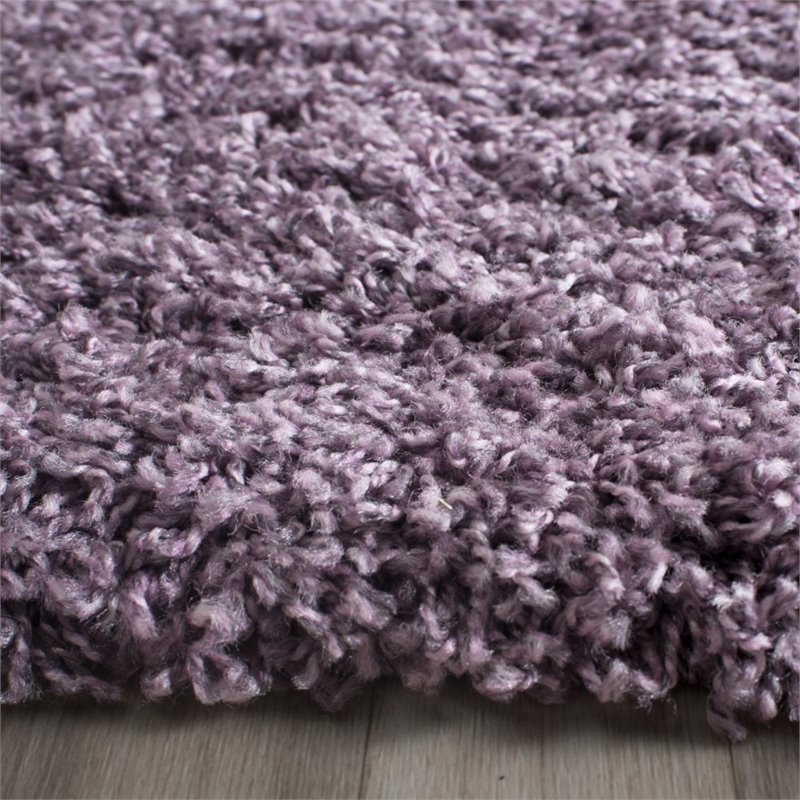 "Safavieh Laguna Shag 5'3"" X 7'6"" Power Loomed Rug in Purple - image 6 de 10"