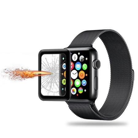 Lien Dream 0.2mm Protecteur d'écran en verre trempé pour 38mm Apple Watch iWatch Série 3 Cadre en alliage d'aluminium haute transparence Anti-rayure Anti-poussière Antidéflagrant - image 2 de 7