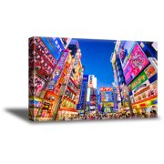 Awkward Styles Tokyo Night View Canvas Wall Decor Tokyo Citylights Bright Streets Framed Art Asian Decor Ideas Breathtaking View Ready to Hang Picture Urban Canvas Collection for Office Wall Decor