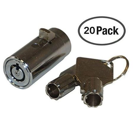 20 - MEI-2501B-KA Vending Machine Lock with Tubular Keyway and Chrome Finish, Keyed Alike #1452