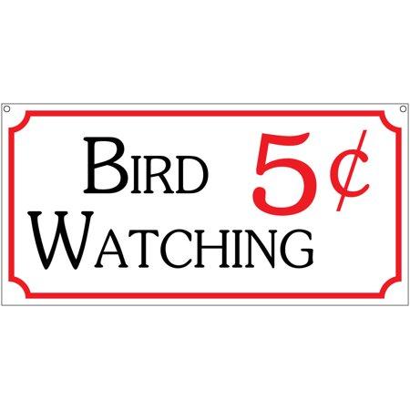 Carnival Novelties (Bird Watching 5c- 6x12 Aluminum Novelty Bar Fair Carnival Parks)