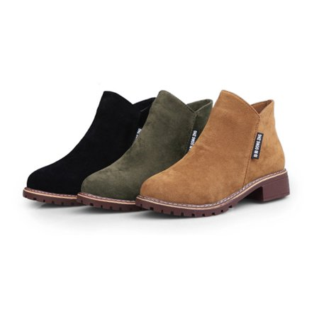Women Ankle Boots Short Martin Boots Chunky Heels Boots Female Fashion Shoes - image 4 of 10