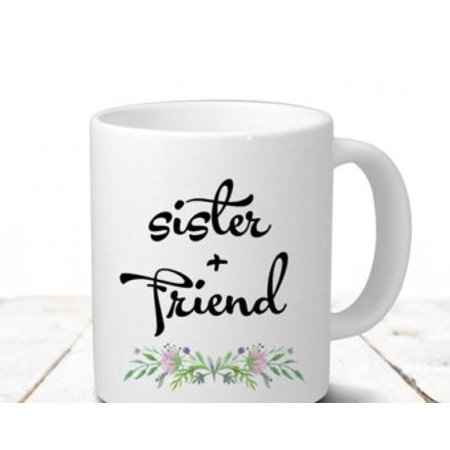 Fabricmcc Sister Mug In Law Christmas Gift Birthday For Coffee Friend Best 11 Oz