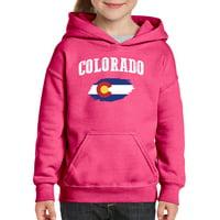 Youth Colorado Flag Hoodie For Girls and Boys Sweatshirt