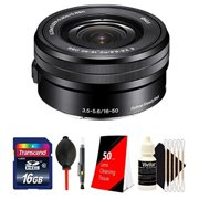 Sony 16-50mm f/3.5-5.6 OSS Alpha E-mount Retractable Zoom Lens with 16GB Top Accessory Kit