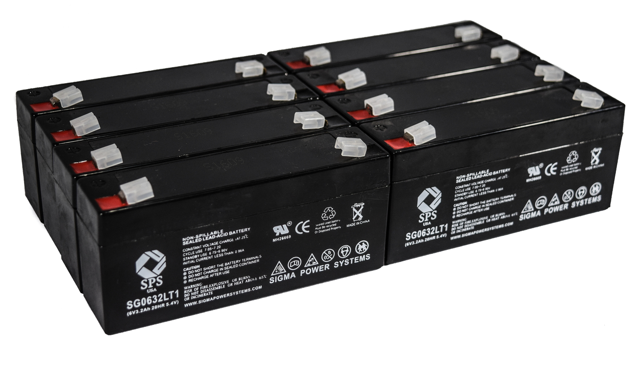 SPS Brand 6 V 3.2 Ah Replacement Battery with Terminal T1 for Siemens 341 (8 PACK) by