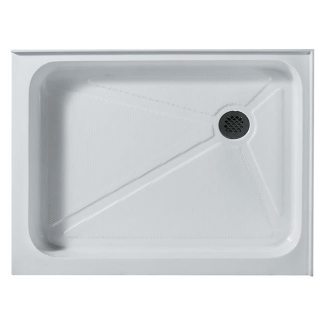 "Vigo VG06019WHT3648R 36"" x 48"" Rectangular Shower Tray White Right Drain by Vigo Industries"