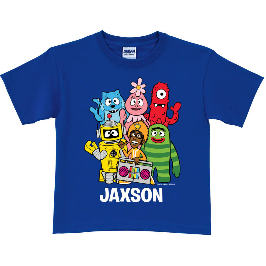 Personalized Yo Gabba Gabba Group Toddler Boys' T-Shirt, Blue