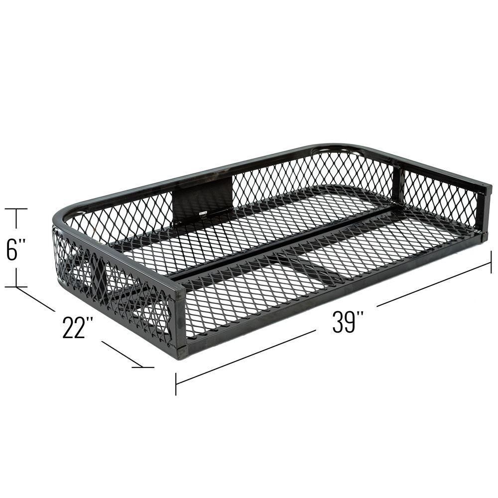 Atv Rear Rack Mounted Steel Mesh Surface Cargo Storage Basket Honda Pioneer Tray