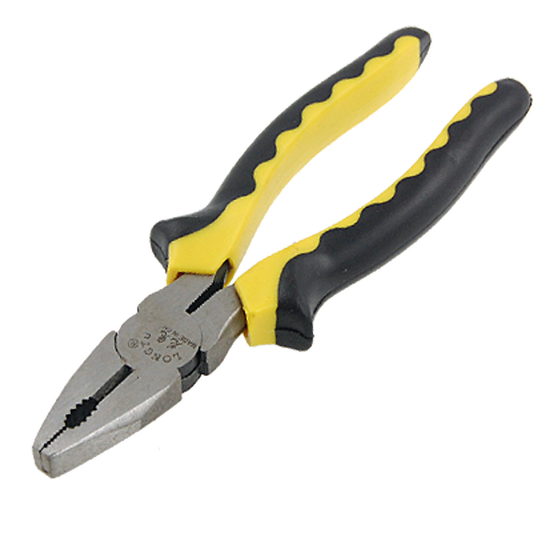 "Nonslip Yellow Black Handle 8"" Linesman Pliers Tool"
